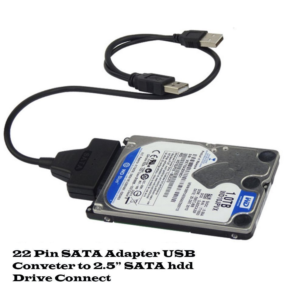 DAHSHA USB 2 0 to 2 5″ 22Pin Sata To Usb Hard Drive HDD