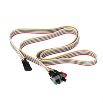ATX PC Computer Motherboard Power Cable 2 Switch On / Off / Reset with LED Light - 65cm (25 Inch)
