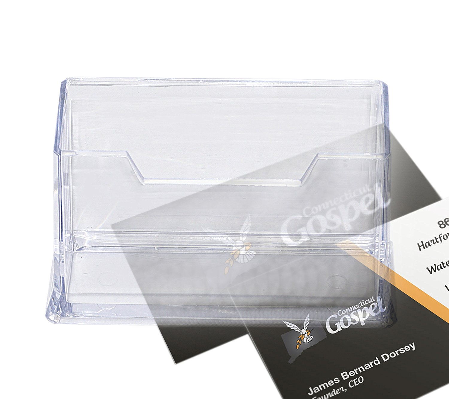 Premium Acrylic Clear Business Card Holder Display, Plastic Business ...